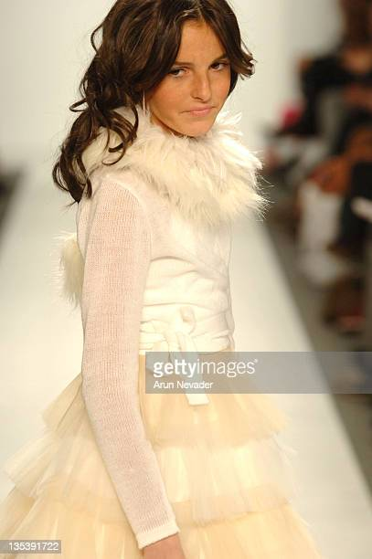 Ali Lohan wearing Child Magazine Fall 2006 during Olympus Fashion Week Fall 2006 Child Magazine Runway at The Atelier Bryant Park in New York City...