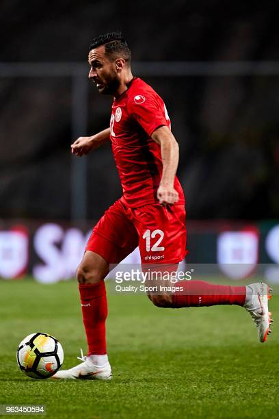 Ali Maaloul of Tunisia in action during the friendly match of preparation for FIFA 2018 World Cup between Portugal and Tunisia at the Estadio AXA on...