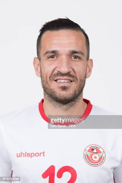 Ali Maaloul of Tunisia poses during the official FIFA World Cup 2018 portrait session on June 13 2018 in Moscow Russia