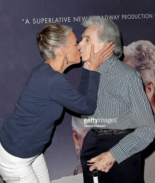 Ali MacGraw and Arthur Hiller attend the curtain call for 'Love Letters' at Wallis Annenberg Center for the Performing Arts on October 14, 2015 in...