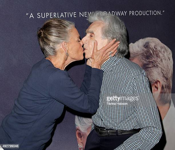 Ali MacGraw and Arthur Hiller attend the curtain call for 'Love Letters' at Wallis Annenberg Center for the Performing Arts on October 14 2015 in...