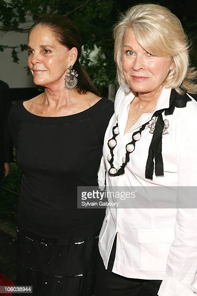 Ali MacGraw and Candice Bergen during Public Theater Gala and Opening of Shakespeare in the Park at Delacourt Theater Central Park in New York New...