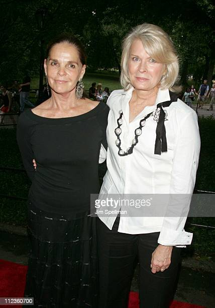 Ali MacGraw and Candice Bergen during The Public's Theaters Annual Gala Opening Night of 'Macbeth' at The Delacorte Theater in Central Park in New...