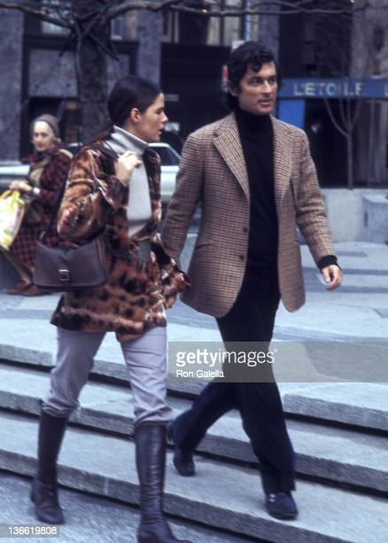 Ali MacGraw and Robert Evans sighted on April 1, 1971 on Fifth Avenue in New York City.