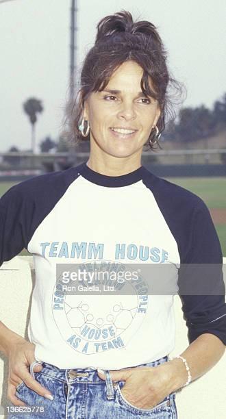 Ali MacGraw attends Hollywood AllStar Softball Game on June 13 1987 at Pepperdine University in Malibu California