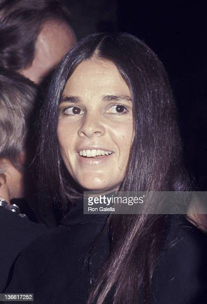 Ali MacGraw attends National Association of Theater Owners Awards Reception on October 28 1971 at the Americana Hotel in New York City