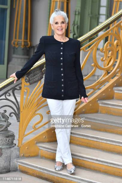 Ali MacGraw attends the Chanel Cruise Collection 2020 Photocall At Grand Palais on May 03 2019 in Paris France