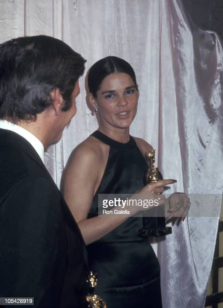 Ali MacGraw during 28th Annual Golden Globe Awards at Beverly Hilton Hotel in Beverly Hills California United States