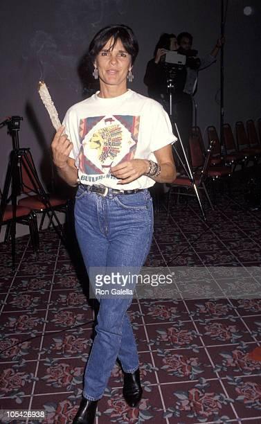 Ali MacGraw during 5th Annual PanAmerican Indian Art Show at Pasadena Civic Auditorium in Pasadena California United States