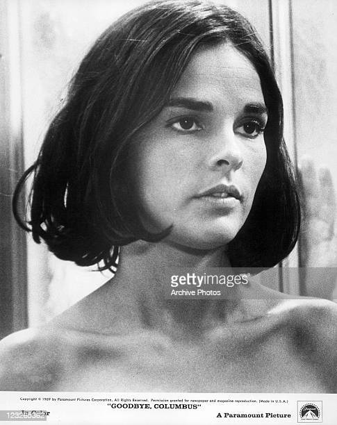 Ali MacGraw looks to her left in a scene from the film 'Goodbye, Columbus', 1969.