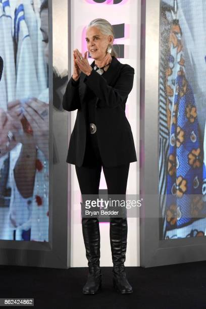 Ali MacGraw speaks onstage at Hearst Magazines' Unbound Access MagFront at Hearst Tower on October 17 2017 in New York City