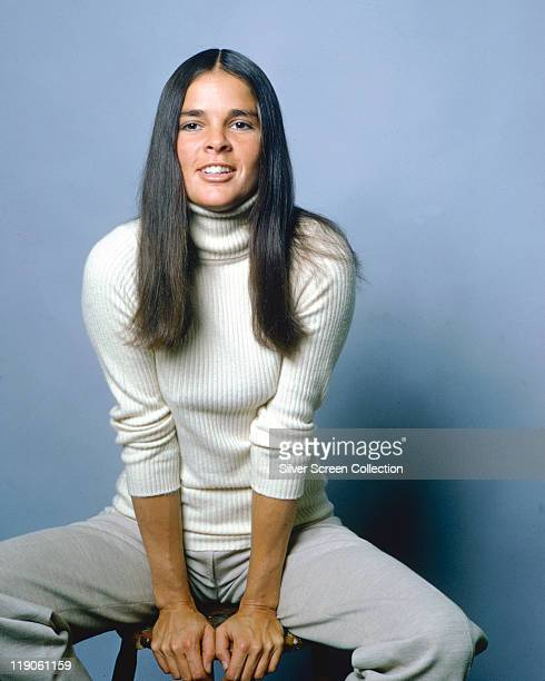 Ali MacGraw, US actress, in a publicity still for the film 'Love Story', USA, circa 1970. The 1970 romance, directed bby Arthur Hiller, starred...