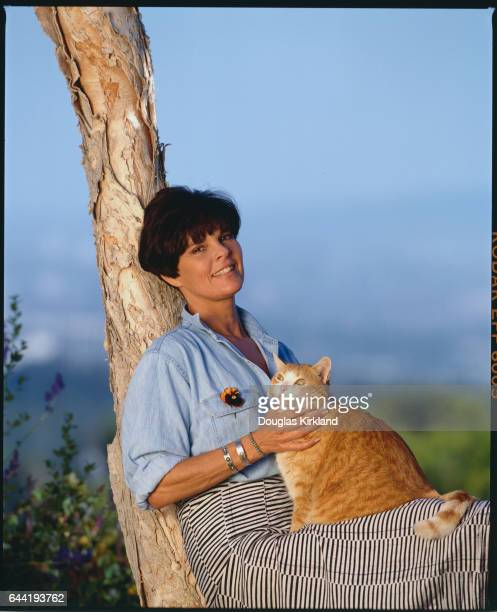Ali MacGraw with Her Cat