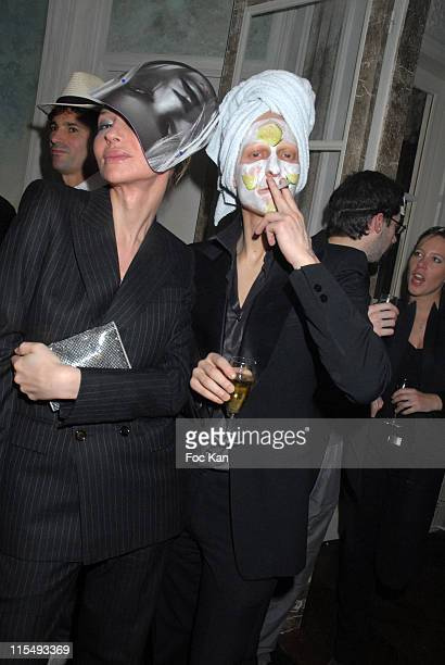 Ali Mahdavi and A Guest attend the Ellen Von Unwerth and Bridget Yorke Masked Birthday Party in a Private Flat Rue Francois 1er on February 01 2008...