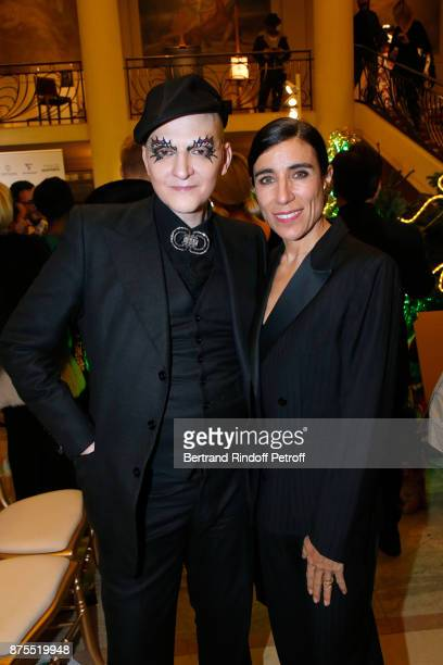 Ali Mahdavi and Blanca Li attend the 22th Edition of ''Les Sapins de Noel des Createurs Designer's Christmas Trees' on November 17 2017 in Paris...