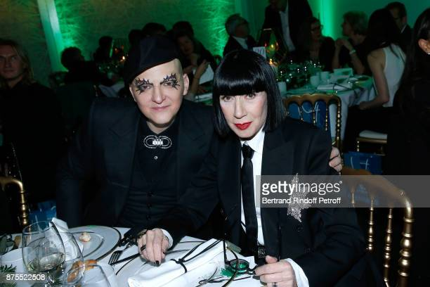 Ali Mahdavi and Chantal Thomass attend the 22th Edition of ''Les Sapins de Noel des Createurs Designer's Christmas Trees' on November 17 2017 in...