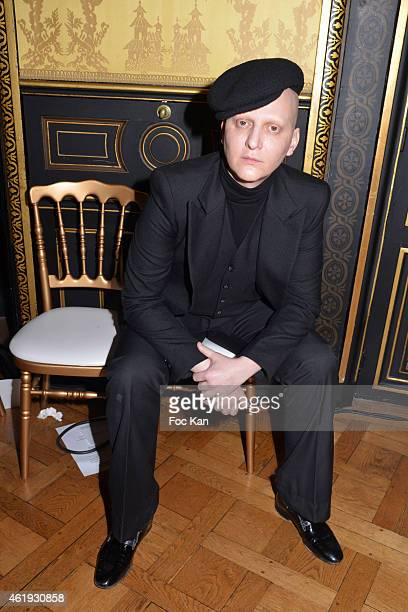 Ali Mahdavi attends the Walter Van Beirendonck Menswear Fall/Winter 20152016 show as part of Paris Fashion Week on January 21 2015 in Paris France