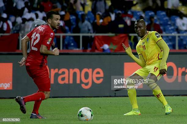 Ali Maâloul of Tunisia in action during the 2017 Africa Cup of Nations group B football match between Zimbabwe and Tunisia at the l'Amitié stadium in...