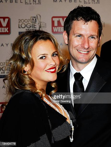 Ali McGregor and Adam Hills during 2007 TV Week Logie Awards Arrivals at Crown Casino in Sydney NSW Australia