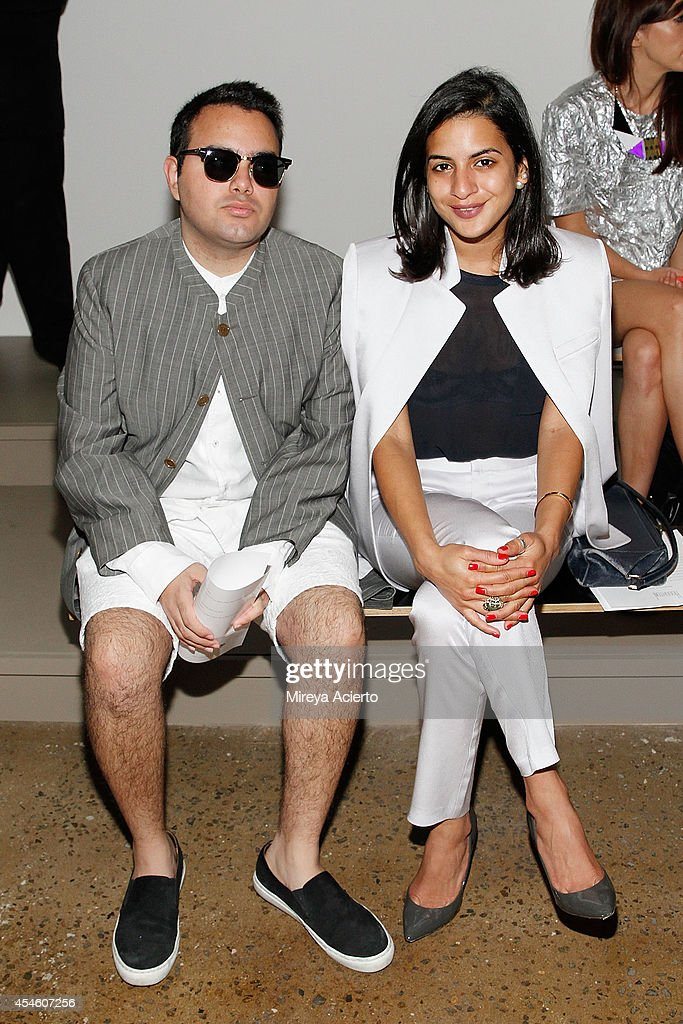 Ali Mehrdad and Haya Maraka attend the Houghton runway show during MADE Fashion Week Spring 2015 at Milk Studios on September 4, 2014 in New York City.