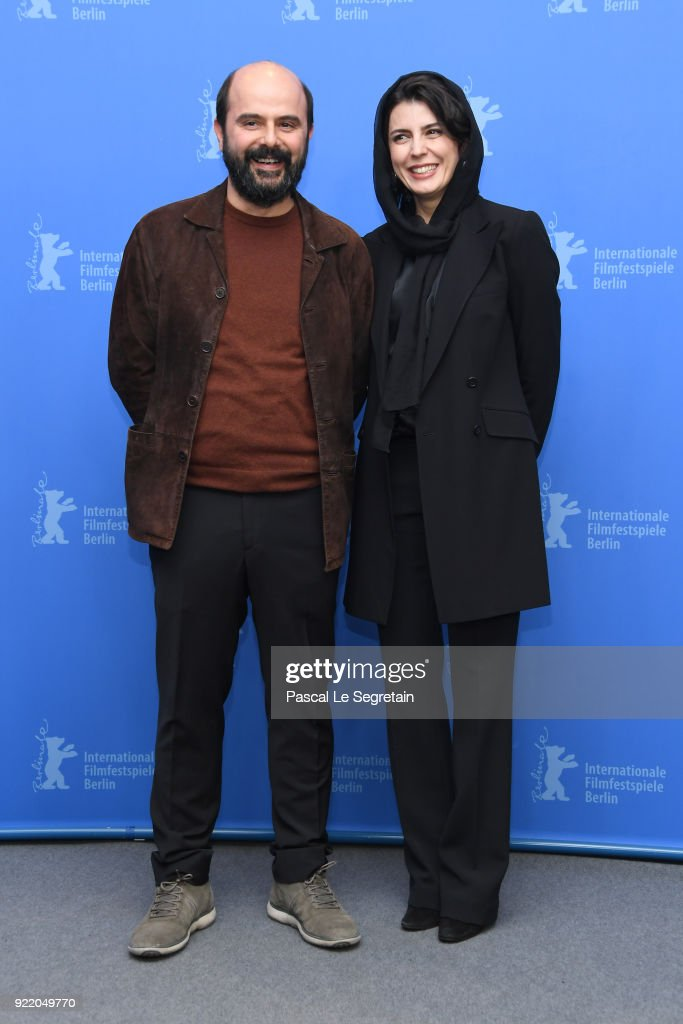Ali Mosaffa and Leila Hatami pose at the 'Pig' (Khook) photo call during the 68th Berlinale International Film Festival Berlin at Grand Hyatt Hotel on February 21, 2018 in Berlin, Germany.
