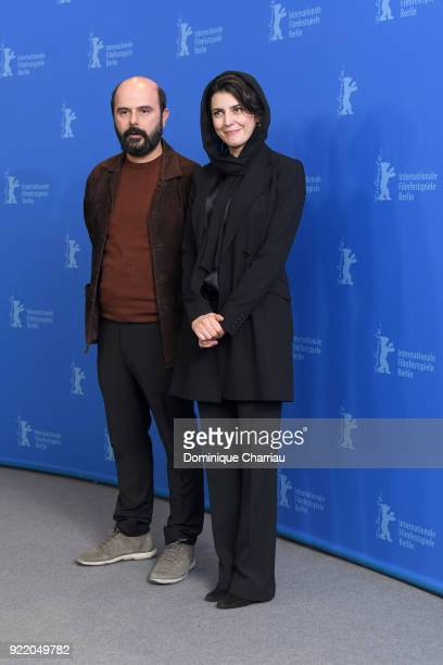 Ali Mosaffa and Leila Hatami pose at the 'Pig' photo call during the 68th Berlinale International Film Festival Berlin at Grand Hyatt Hotel on...