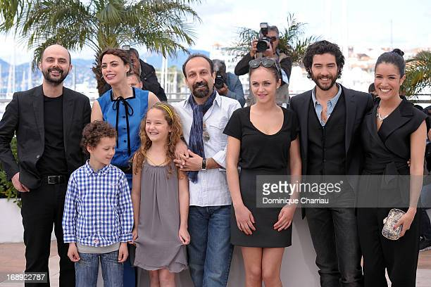 Ali Mosaffa Elyes Aguis Berenice Bejo Jeanne Jestin director Asghar Farhadi Pauline Burlet Tahar Rahim and Sabrina Ouazani attend the photocall for...