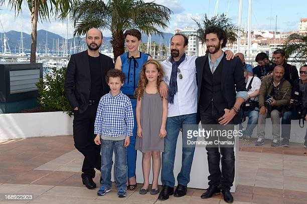 Ali Mosaffa Elyes Aguis Berenice Bejo Jeanne Jestin director Asghar Farhadi and Tahar Rahim attend the photocall for 'Le Passe' during the 66th...