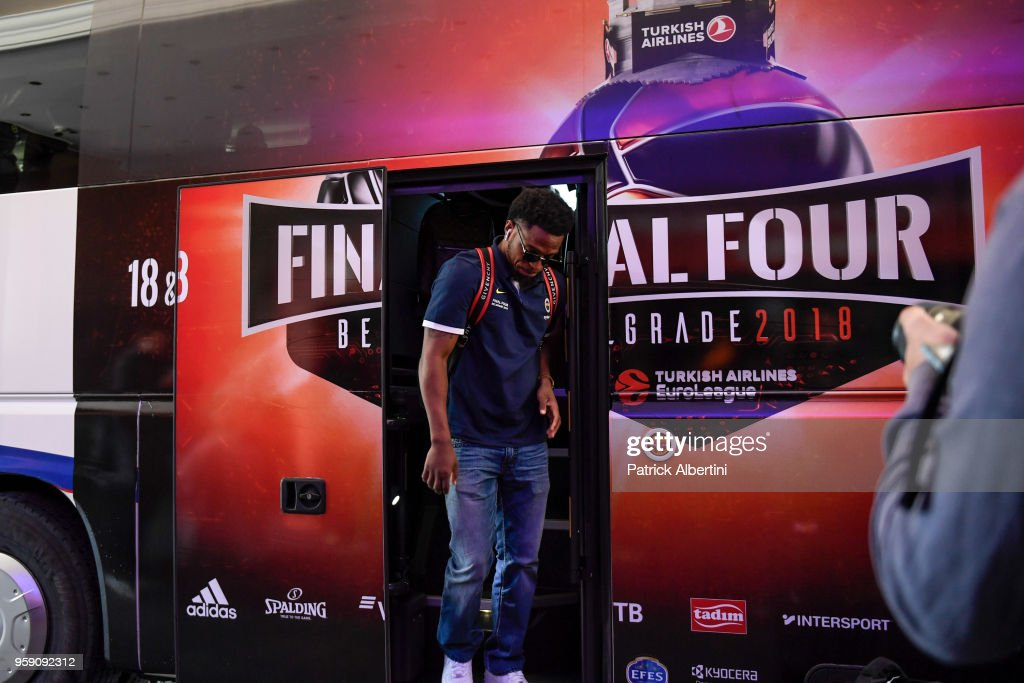 Ali Muhammed, #35 of Fenerbahce Dogus Istanbul during the Fenerbahce Dogus Istanbul Arrival to participate of 2018 Turkish Airlines EuroLeague F4 at Hyatt Regency Hotel on May 16, 2018 in Belgrade, Serbia.