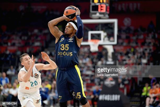 Ali Muhammed #35 of Fenerbahce Dogus Istanbul in action during the 2018 Turkish Airlines EuroLeague F4 Championship Game between Real Madrid v...