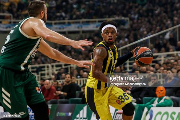 Ali Muhammed #35 of Fenerbahce Istanbul in action during the 2018/2019 Turkish Airlines EuroLeague Regular Season Round 11 game between Panathinaikos...