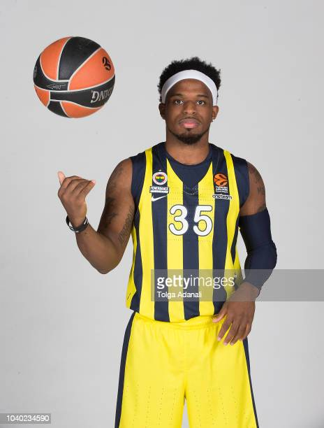 Ali Muhammed #35 of Fenerbahce Istanbul poses during the Fenerbahce Istanbul 2018/2019 Turkish Airlines EuroLeague Media Day at Ulker Sports Arena on...