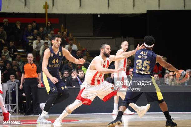 Ali Muhammed of Fenerbahce Dogus in action against during the Turkish Airlines Euroleague week 28 basketball match between KK Crvena Zvezda and...