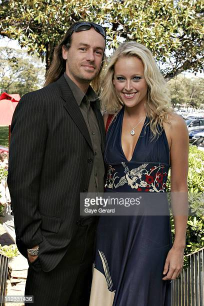 Ali Mutch and Paul Stanner during 2006 Emirates Fashions on the Field Launch at Catalina Restaurant Lyne Park Rose Bay in Sydney NSW Australia