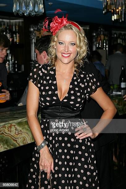 Ali Mutch arrives at the Donny Galella Hosts PostMelbourne Cup Party at the Kit Kaboodle on November 3 2009 in Sydney Australia