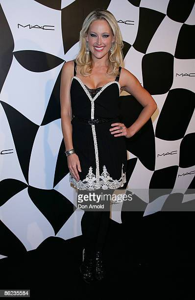 Ali Mutch arrives at the MAC Official Opening Party at The Ivy on day one of Rosemount Australian Fashion Week Spring/Summer 2009/10 on April 27 2009...