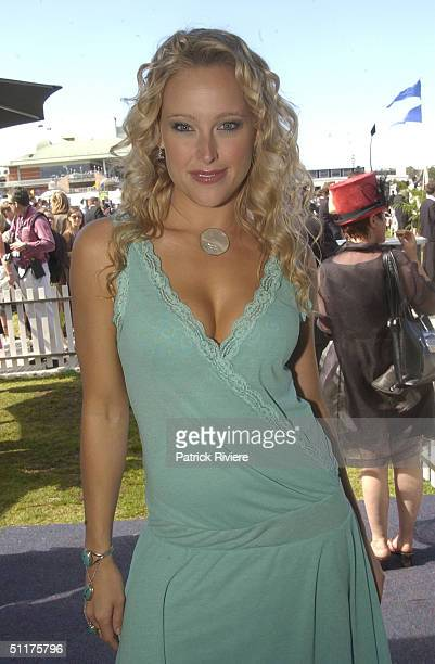 Ali Mutch at the AJC Spring Carnival held at the Randwick Royal Racecourse in Sydney