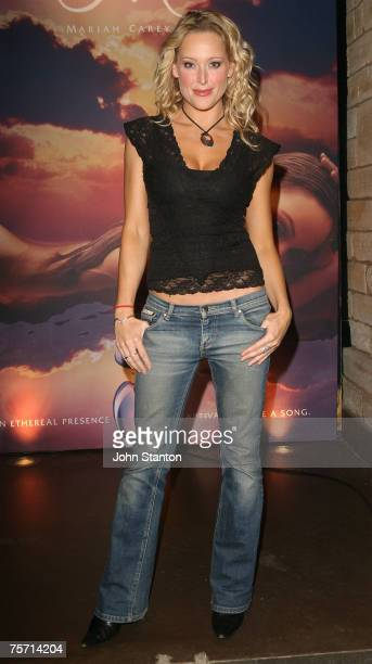 Ali Mutch attends the fragrance launch for the new perfume 'M by Mariah Carey' at Favela Kings Cross on July 26 2007 in Sydney Australia