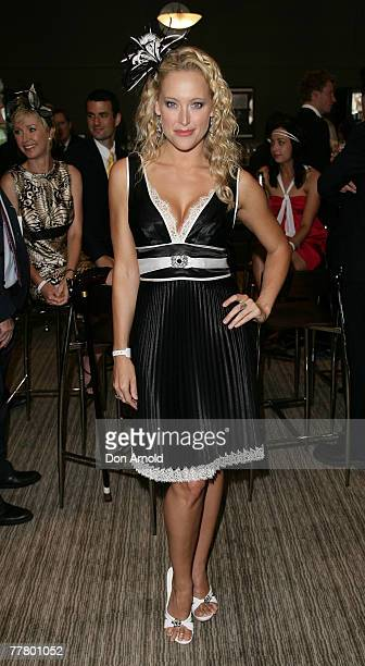 Ali Mutch attends the Melbourne Cup party at Royal Randwick on November 6 2007 in Sydney Australia