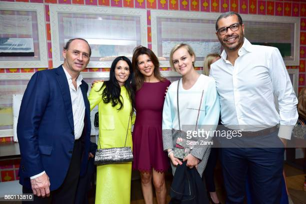 Ali Nusui Sophie Bonvin Rosie Nusui Anastasia Panova and Jessie Larius attend the launch of The Collector Geneva's Sophie Bonvin Code Collection in...