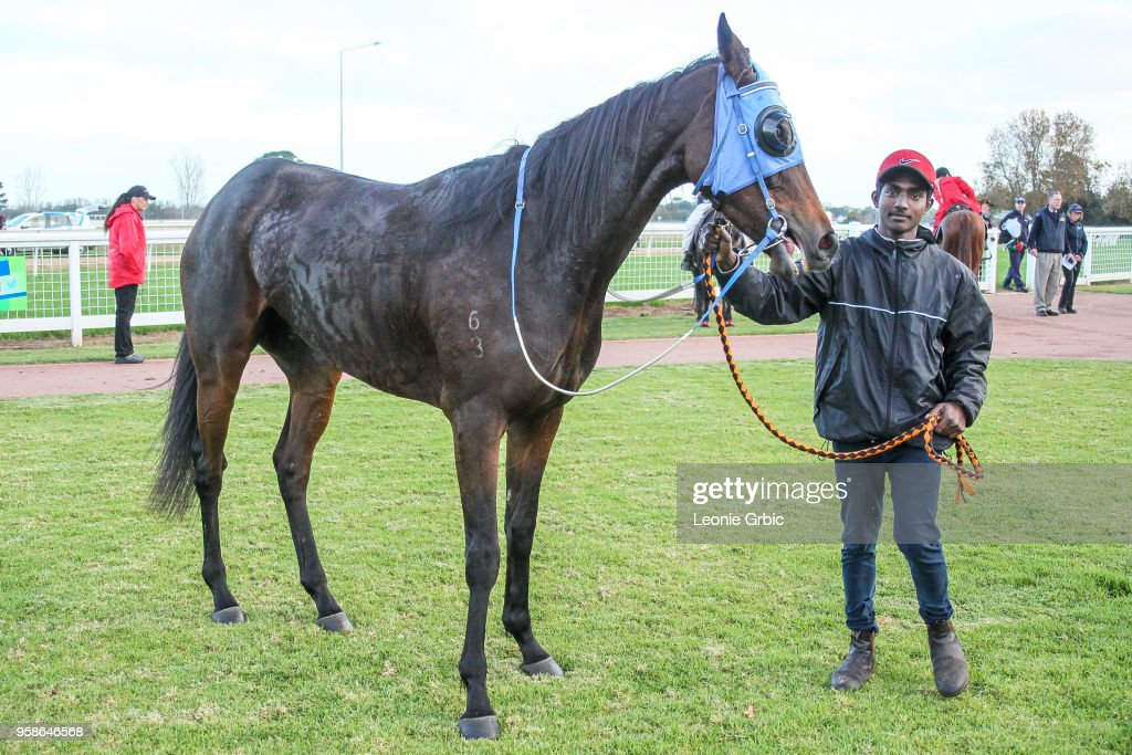 Ali Orphan (NZ) after winning the Ladbrokes Call Me BM64 Handicap at Sale Racecourse on May 15, 2018 in Sale, Australia.