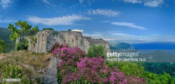 ali pasha castle at anthousa - dimitrios tilis stock pictures, royalty-free photos & images