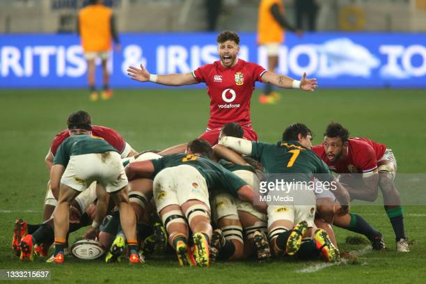 Ali Price of the British & Irish Lions at the back of the scrum during the 3rd Test between South Africa and the British & Irish Lions at FNB Stadium...