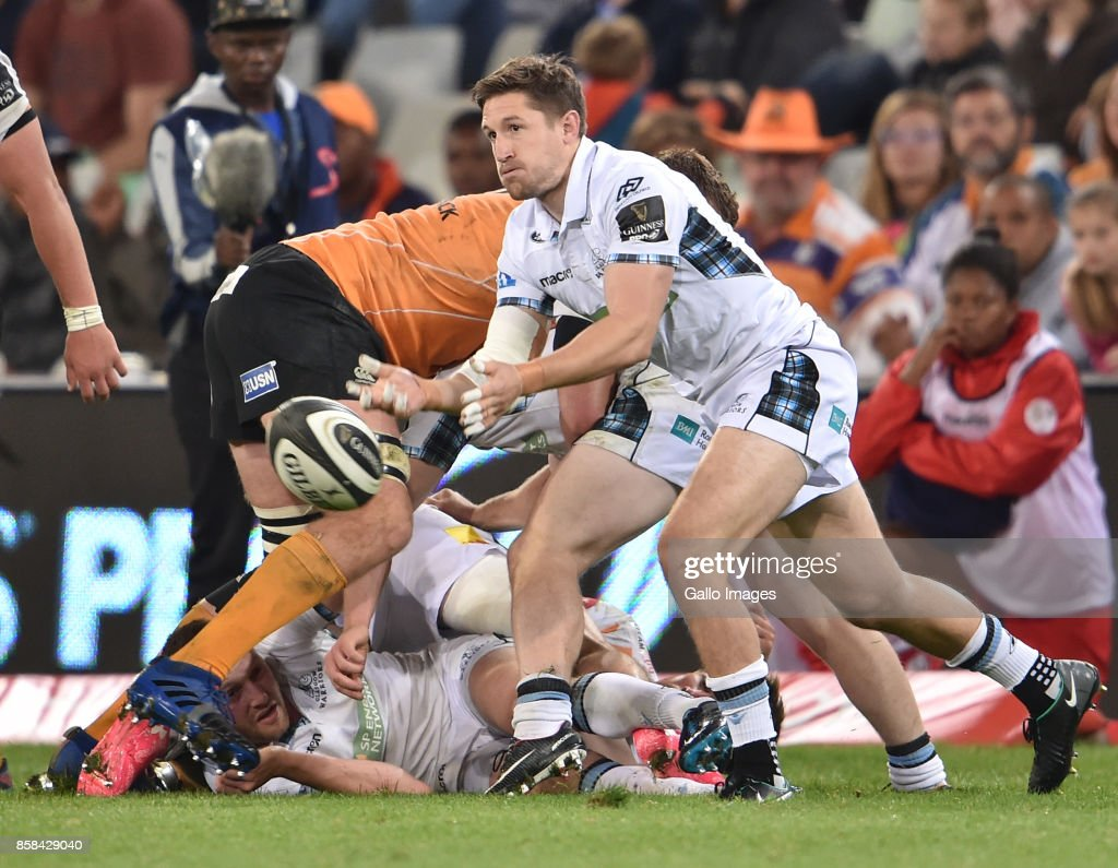 Ali Price of the Glasgow Warriors during the Guinness Pro14 match between Toyota Cheetahs and Glasgow Warriors at Toyota Stadium on October 06, 2017 in Bloemfontein, South Africa.