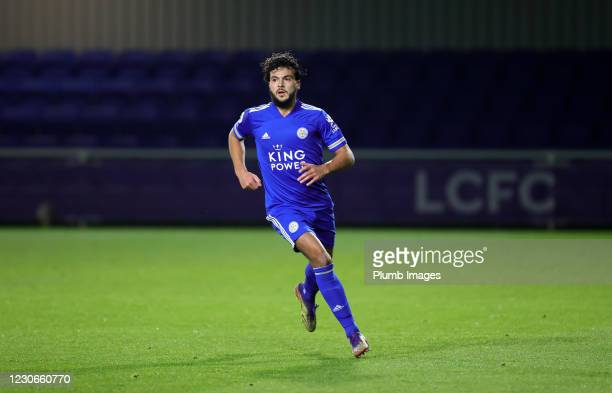 Ali Reghba of Leicester City during the Premier League 2 match between Leicester City and Manchester United at Leicester City Training Ground, on...