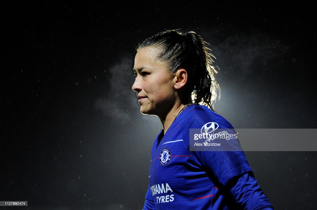 Chelsea Women v Manchester City Women - FA Continental Tyres Cup Semi Final : News Photo