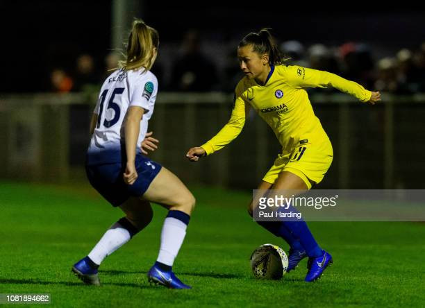 Ali Riley of Chelsea Women on December 12 2018 in Cheshunt England