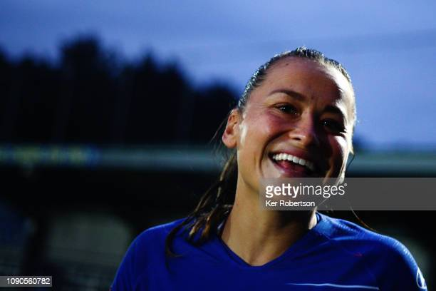 Ali Riley of Chelsea Women seen following the FA Women's Super League match between Chelsea Women and Everton Ladies at The Cherry Red Records...