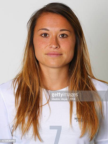 Ali Riley of New Zealand during the FIFA Women's World Cup 2015 portrait session at the Delta Edmonton South on June 3 2015 in Edmonton Canada