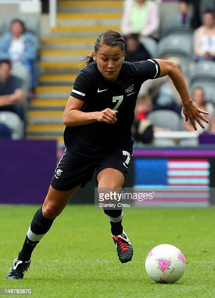 Ali Riley of New Zealand in action during the Women's Football Quarter Final match between United States and New Zealand on Day 7 of the London 2012...